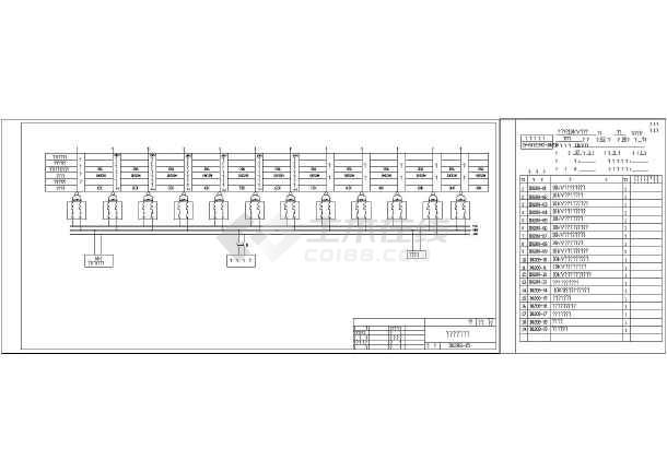 某小区10kV开闭站二次原理图(进线柜、直流屏v小区图纸塔广告图片