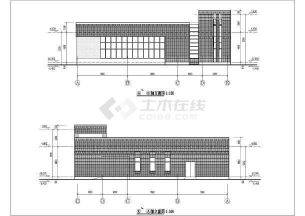 某地区六层中学教学楼建筑设计方案图纸图片