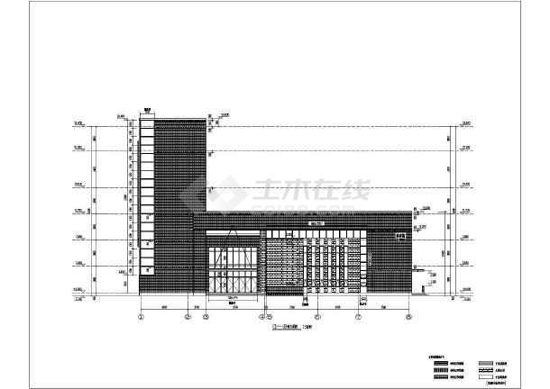 某地区六层中学教学楼建筑设计方案图纸