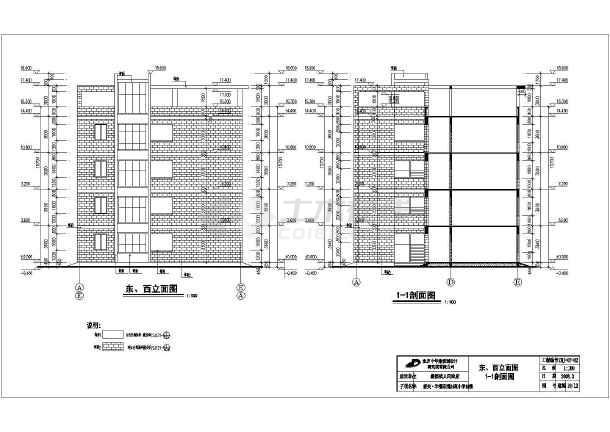 某小学四层小学框架教学楼建筑设计施工图_c的我们民族结构