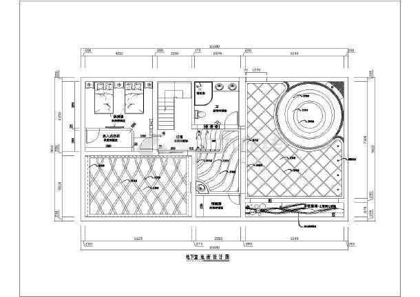 独幢别墅室内装潢设计方案,地下一层,地上三层,图纸包括:各层平面