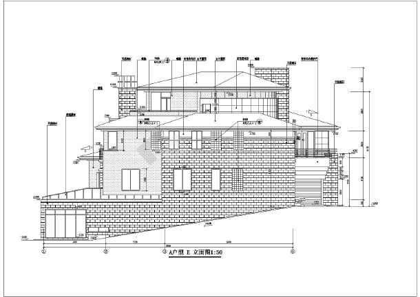 北京某小区三层剪力墙结构别墅建筑设计方案