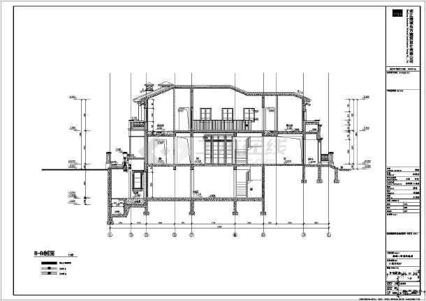 某地地下一层地上二层框架结构独幢别墅建筑施工图