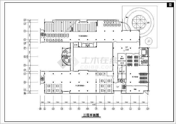 四川某学校四层图书馆建筑设计方案平面地下室酒窖设计装修效果图图片