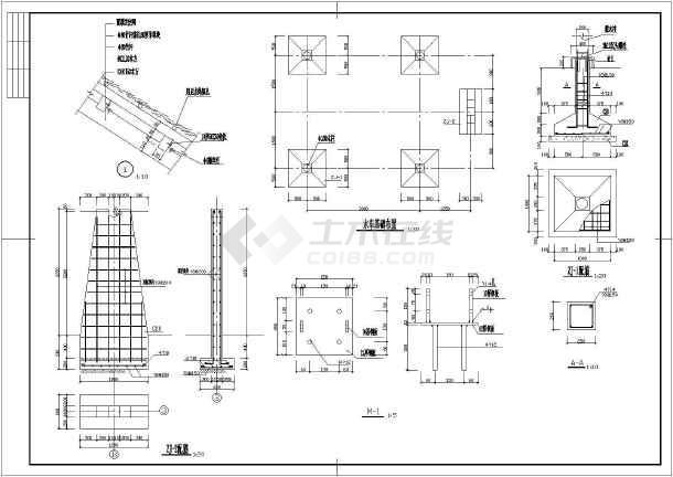 图纸 园林设计图 小品及配套设施 棚架花架设计图 公园水边水车,草棚