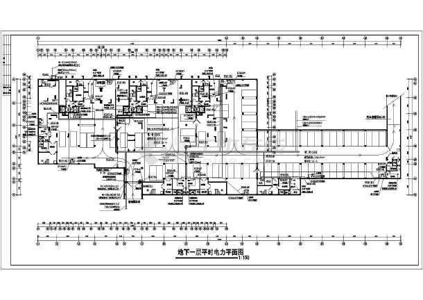 很完善的某小区电气-人防-图2