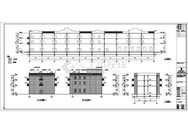 某3层国际园林博览会建筑设计施工图