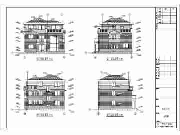 某农村三层砖混结构别墅建筑设计施工图