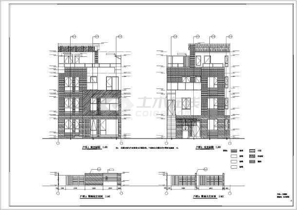 【天津】某三层砌体结构联排别墅建筑施工套图