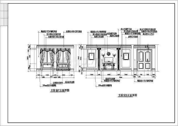 某地整套欧式三层别墅装修设计施工图