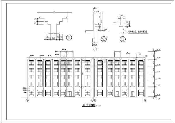 某五层图纸宾馆图纸发布设计施工结构_cad图为何cad框架集建筑为不能dwf了图片