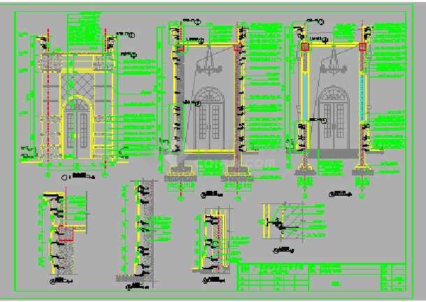 住宅小区园艺图纸景观设计施工图v园艺小面宽建筑园林图片