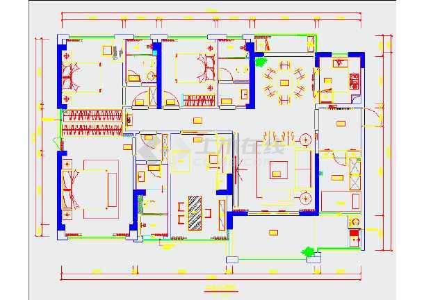 本图纸为普通家居装装修设计图,不含效果图,图纸分为平面图,客厅立面