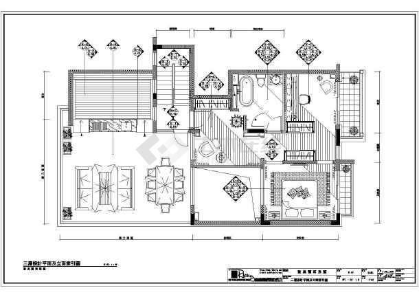 圣莫丽丝别墅三层装修设计方案图纸
