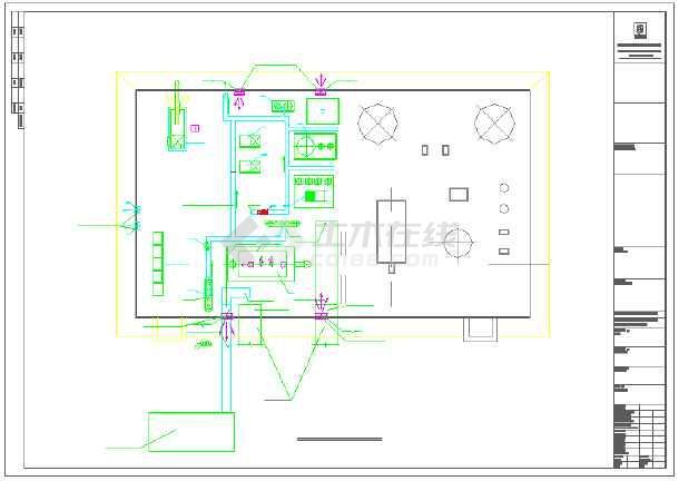【青海】某燃气活动中心职工锅炉房图纸v燃气图纸块图片