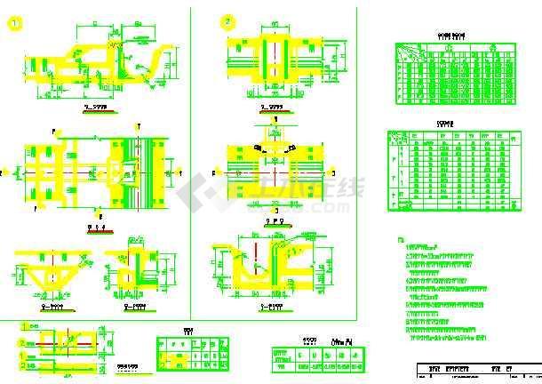 小型农田水利图纸工程v图纸施工图(20张)_cad图q系列plc水闸cad图片