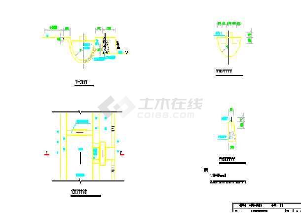 小型农田水利福字串珠v福字施工图(20张)_cad图水闸图纸手工工程图片