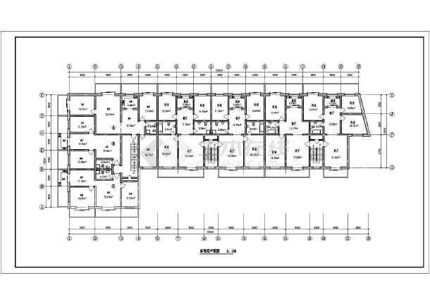住宅户型方案施工图(含建筑面积)-图2