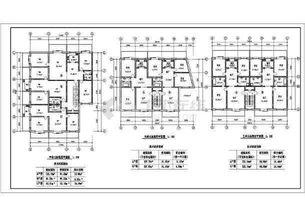 住宅户型方案施工图(含建筑面积)-图3