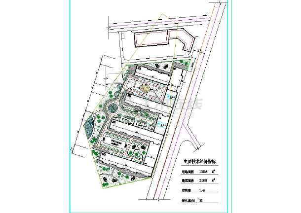 某地区小型园林景观设计规划平面图
