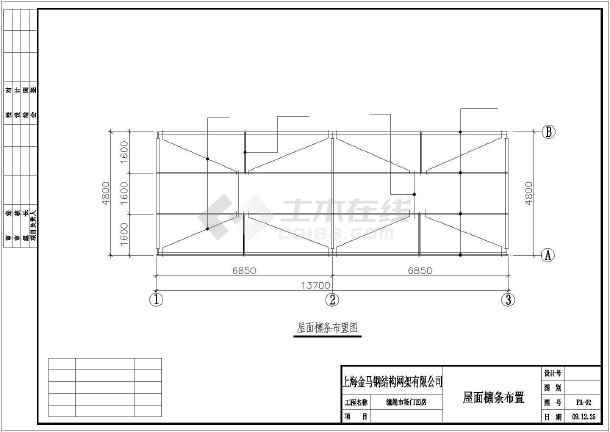 农贸菜市场门面房结构施工cad设计图
