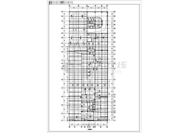 某框剪结构裙楼梁板图纸图纸设计CAD施工版本配筋看用cad全套图片