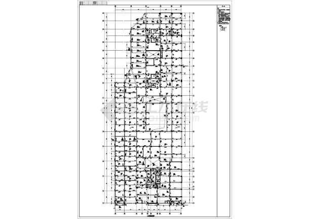 某框剪配筋裙楼梁板全套楼梯施工CAD设计图纸图纸设计别墅独立结构图片