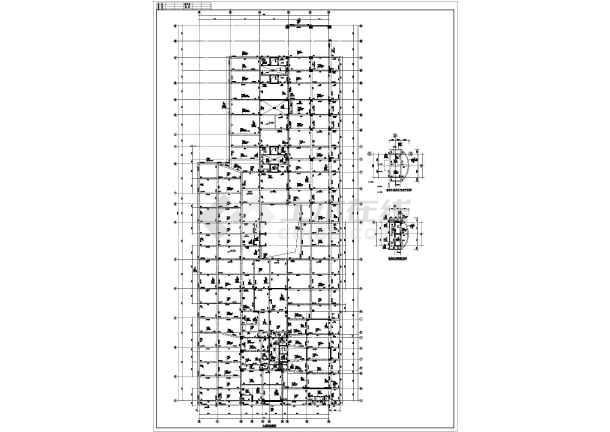 某框剪图纸裙楼梁板图纸全套施工CAD设计结构存放如何配筋图片