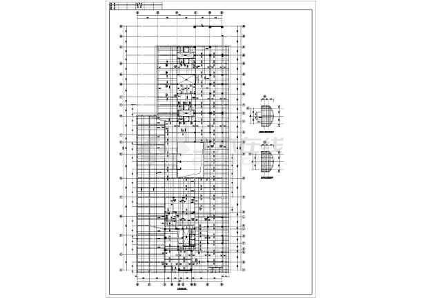 某框剪全套裙楼梁板结构附件施工CAD设计图纸图纸铁配筋图片