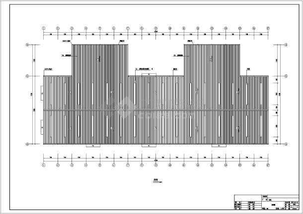 图纸 建筑结构图 钢结构图纸 门式刚架 成都某三联跨门式钢架厂房整套