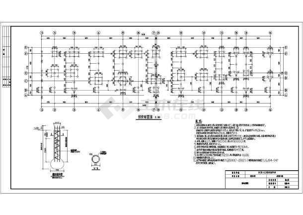 为底层框架--抗震墙结构,6度区,建筑物总层数为五层.
