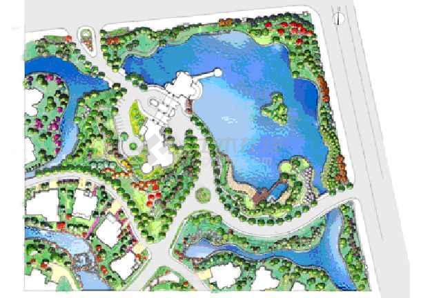 千岛湖别墅总平面图图片1