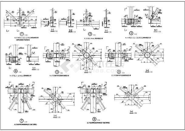 电梯机房平面布置图_某电梯机房楼顶广告牌钢结构施工图_cad图纸下载-土木在线