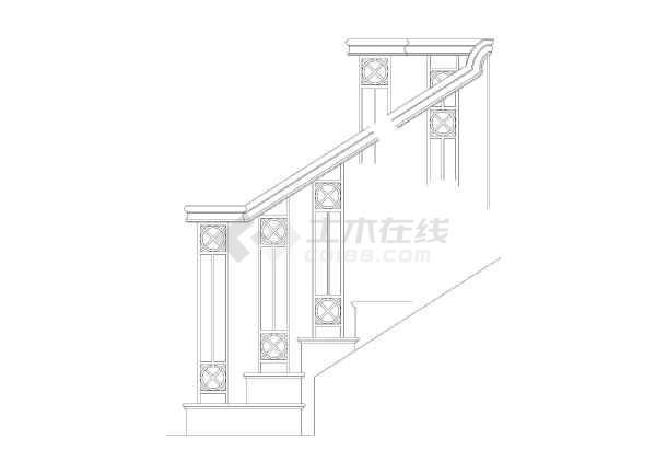 cad室内设计施工图常用图块之楼梯扶手图片3