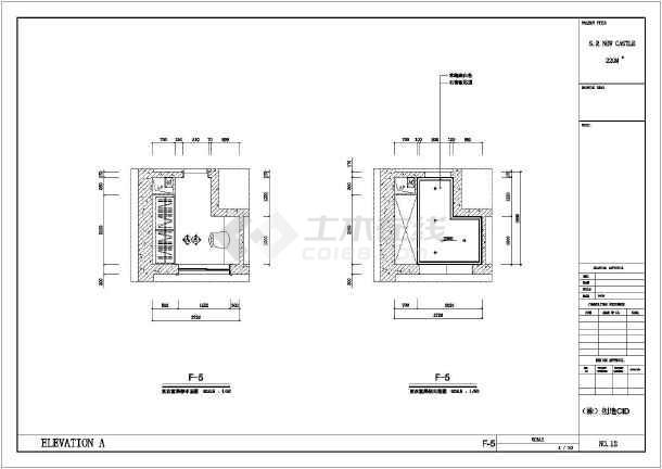 图纸 装修设计 家装设计 两室两厅装修图 某地韩式风格两室两厅一厨一