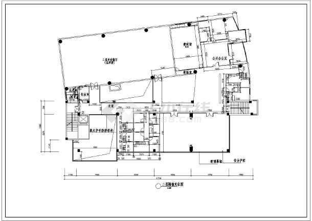 某地现代少年宫整套平面及天花方案图