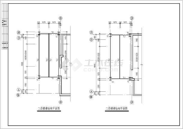 某地商办楼电梯井道钢结构设计施工图