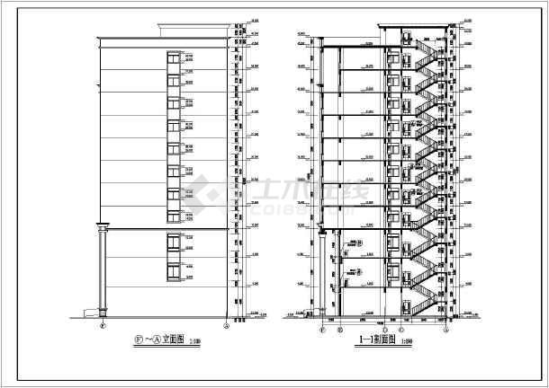 某欧式小命令写字楼建筑设计施工图_cad高层cad图纸us中图片