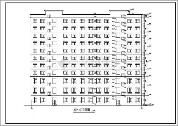 该为某欧式小高层写字楼建筑设计施工图,内容主要包含:,各层,屋顶