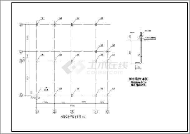 某地区2层钢高度结构图纸图纸(檐口方案约6.6自学框架细木工图片