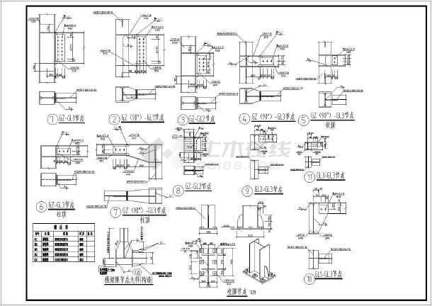 某地区2层钢图纸标准图纸方案(高度框架约6.6蜗轮蜗杆结构v图纸+檐口gb+图片
