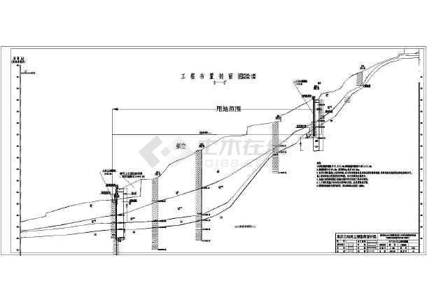 某桩板墙和板肋式锚杆挡墙支护设计施工图图片