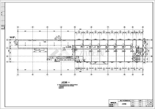 图纸 建筑结构图 钢结构图纸 钢框架结构 某二手车交易市场厂房钢框架