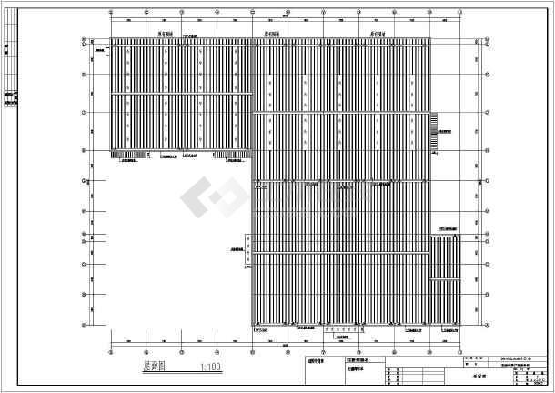 比亚迪4s店钢结构展厅结构设计施工图(含建筑)