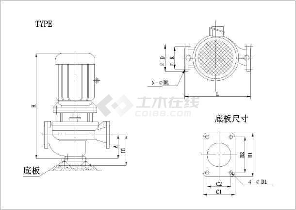 某市设计院给排水设计水泵样式图例