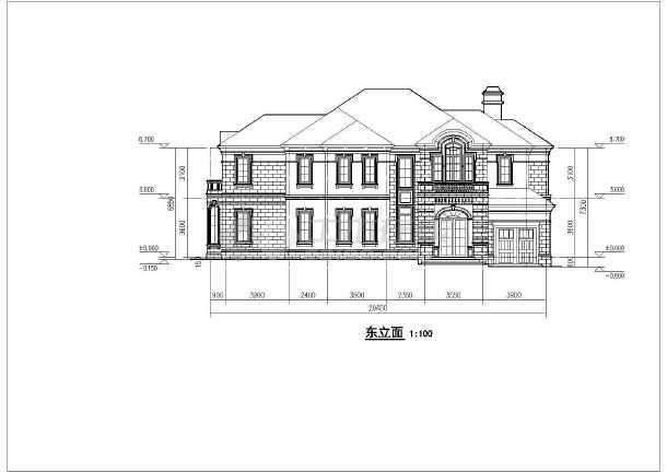 四套两层框架结构欧式小别墅户型图
