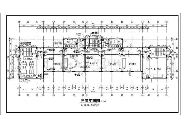 某地小学三层教学楼建筑设计方案图纸