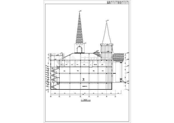 图纸 建筑图纸 办公楼设计 欧式办公楼 某葡萄酒庄三层综合办公楼建筑
