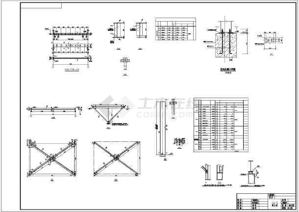 某地单层钢结构厂房全套结构施工图