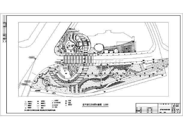 图纸 园林设计图  园林景观套图(景观施工图图集)  施工图阶段套图图片